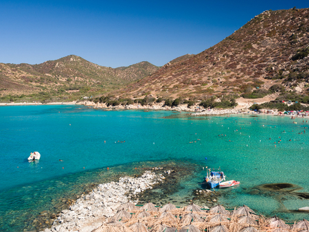 One of the marvelous and uncontaminated beaches of the island of Sardinia, Italy. Stock Photo