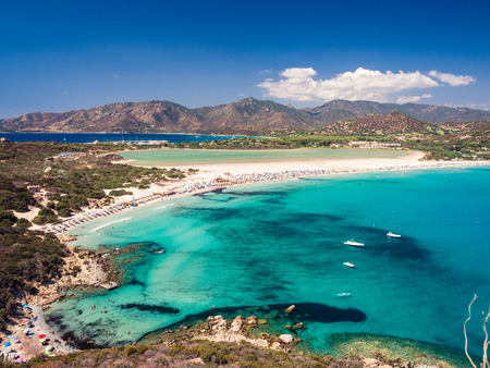 Transparent and turquoise sea in Porto Giunco, Villasimius, Sardinia, Italy Kho ảnh