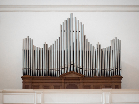 Organ above the entrance of a church.