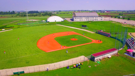 baseball fields aerial view panorama landscape