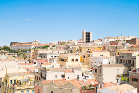 View of Cagliari, capital of the region of Sardinia, Italy.