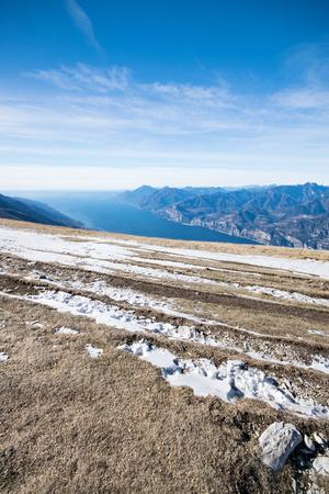 Panorama of Lake Garda (Italy) seen from the top of Mount Baldo. Archivio Fotografico