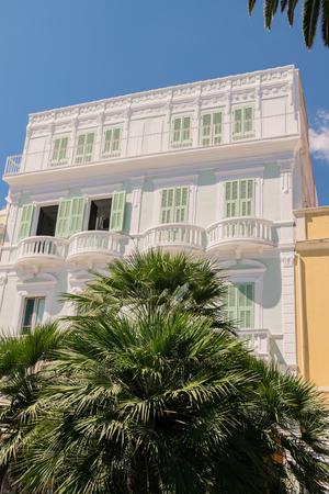 The typical Mediterranean architecture of Carloforte on the island of San Pietro, Sardinia, Italy.