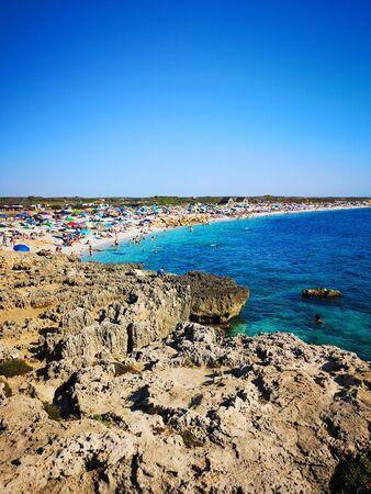 Transparent and turquoise sea in Villasimius. Sardinia, Italy.