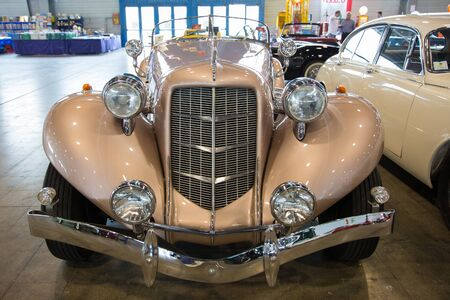 Verona, Italy - May 9, 2015: The municipality of Verona organizes a free gathering of sports and antique cars.Are exposed the most beautiful cars in the world. Stock Photo