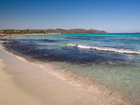 Transparent and turquoise sea in Villasimius. Sardinia. 版權商用圖片