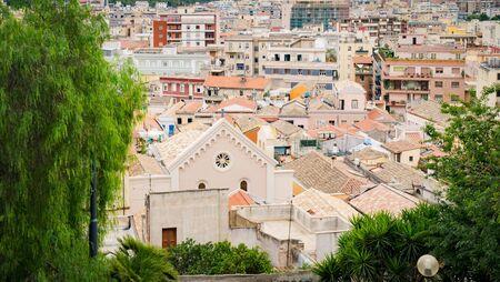 View of Cagliari, capital of the region of Sardinia, Italy.