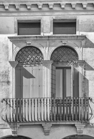Detail of a classical Italian Venetian villa.