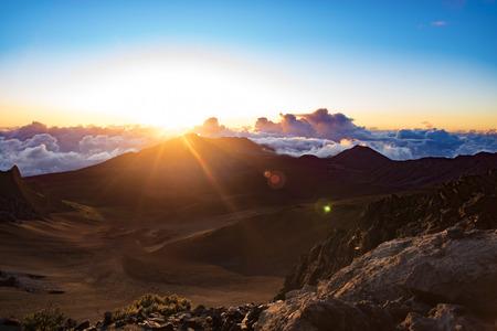 crater: Haleakala Crater Sunrise Hawaii