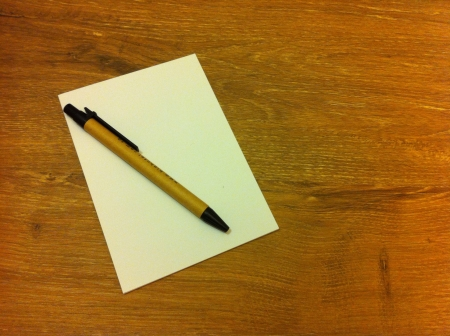 note pad: Pen and a note pad  Stock Photo