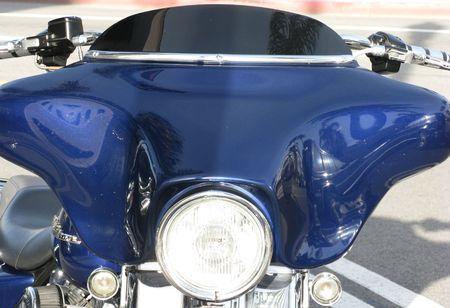 Blauwe motor fiets