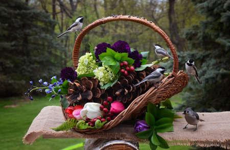Basket of birds