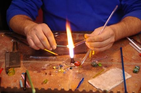 Glassmaking Banque d'images