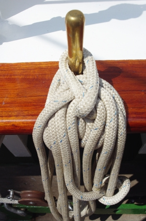 rigging: Thick Ship Rigging Rope  Sailing Ship Rope