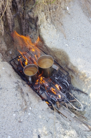 griller: Coffee on the beach