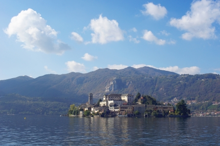 Saint Giulio island on Orta lake, Italy, Isola San Giulio photo