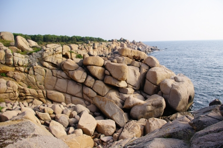maslen: Rocks on the peninsula Maslen nos, Primorsko, Bulgaria