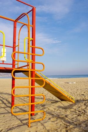 Colorful children playground on Beach Stock Photo - 17428810