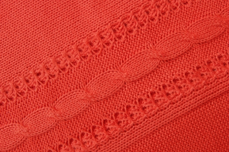 knitwear: Details of  red knitwear