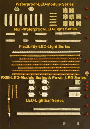 lightbar: Demonstration board with LED module series