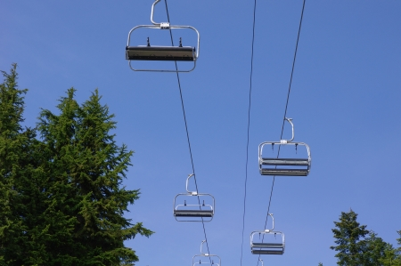 chairlift: Ski lift ,chairlift  Stock Photo