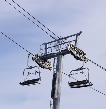 chairlift:  Chairlift in ski resort