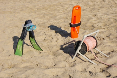 baywatch: Rescue Equipment on Beach for Baywatch