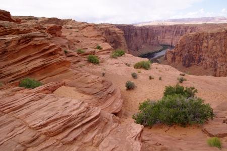 Canyon of the Colorado River after dam Glen Canyon Dam