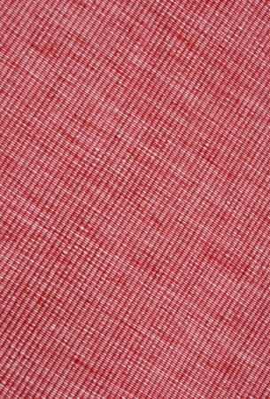 biased: Red diogonal place mat close up
