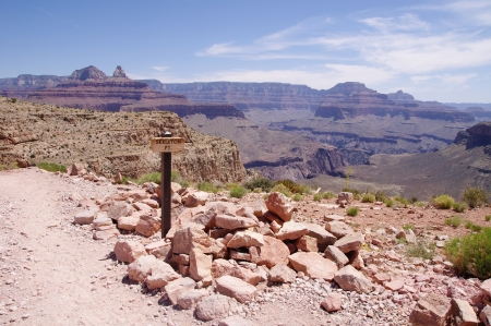 kaibab trail: View from Skeleton Point on Kaibab trail  in the Grand Canyon