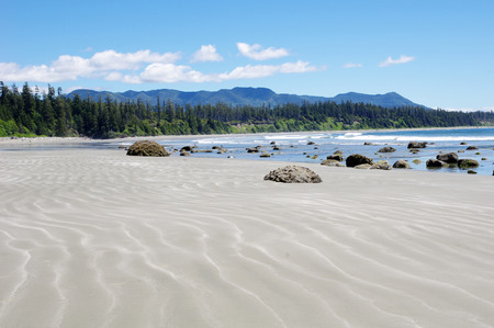 Low tide on the Long Beach   Vancouver Island, British Columbia, Canada