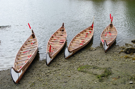 Four rowboats in False Greek,Vancouver , British Columbia, Canada photo