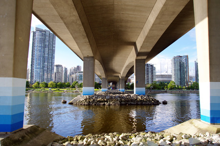beneath the surface: The foundations of Cambie Bridge spanning False Creek , Vancouver , British Columbia, Canada