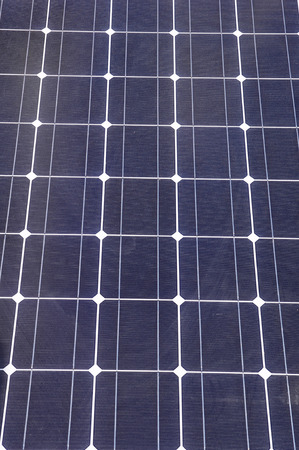 Solar panel closeup  in sunny day photo