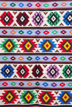 kotel: The colorful traditional carpet from city Kotel, Bulgaria