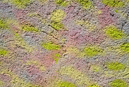 concave: Colorful decorative relief plaster on wall closeup Stock Photo