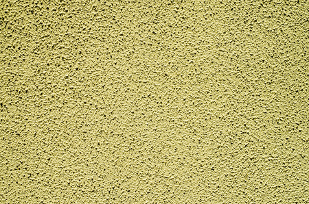 Decorative Yellow Relief Plaster On Wall Closeup Stock Photo ...