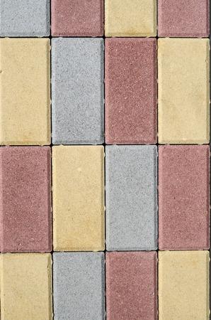 mixed masonry nuevos bloques de hormign de colores para la de calles en la