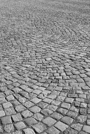 pavers: Granite pavers of a city plaza in sunny day Stock Photo