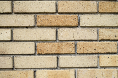 fireproof: Wall of new refractory bricks closeup, Bulgaria Stock Photo
