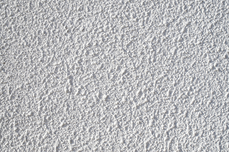 decorative wall: White decorative relief plaster on wall closeup