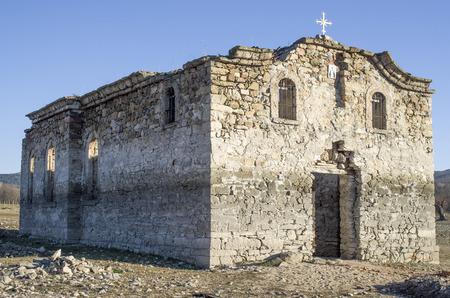 Ruin of small rural church in  dam Jrebchevo, Bulgaria