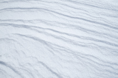 sheeted: Wreath of snow bright surface in sunny day