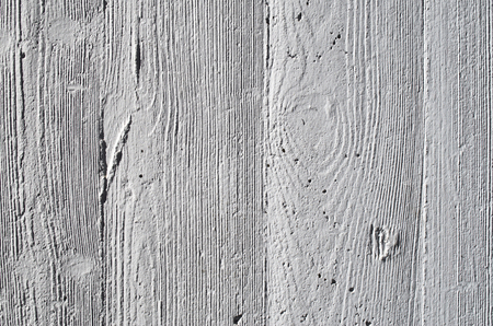Concrete wall with footprint of wood closeup
