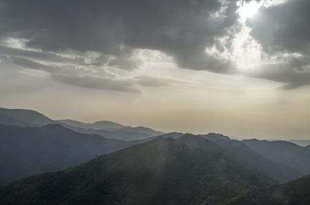 ridges: Mountain ridges at sunset in Stara planina, Bulgaria, Europe