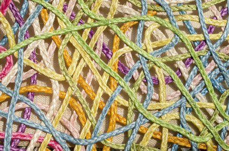 straw twig: Colorful new artistic tracery of rattan closeup