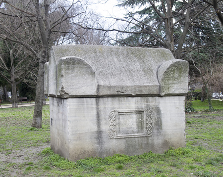 Big roman stone tomb saucophagus, Bulgaria, Europe