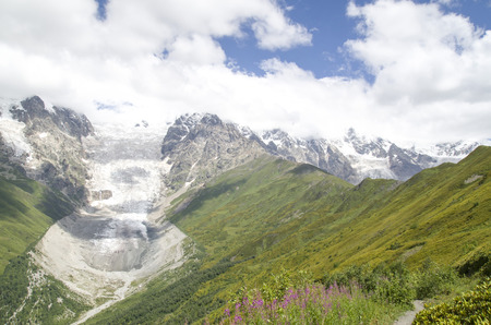 Beautiful view of glacier Adishi , Georgia, Europe
