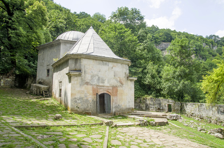 Demir Baba Teke - аlevi mausoleum (türbe) near the village of Sveshtari, Bulgaria