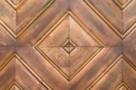 Square-shaped wooden lining closeup
